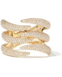 Anne Sisteron Diamond Flame Yellow-gold Ring - Metallic