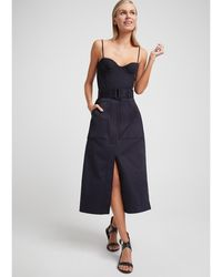 G. Label by goop Danielson Midi Skirt - Blue