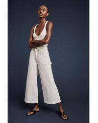 G. Label by goop Juan Paul Workwear Culottes Pants - Natural