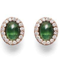 Marlo Laz Retina Earrings - Green