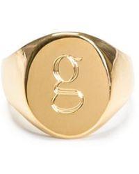Sarah Chloe - 18k Gold Lana Pinky Ring - Lyst