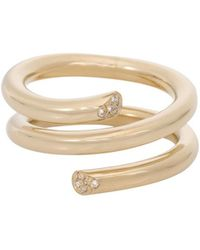 Ariel Gordon Pavé Spring Ring - Metallic