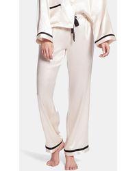 Morgan Lane Chantal Silk Trousers - Multicolour