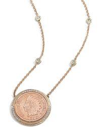 Jacquie Aiche - Pavé & Copper Antique-coin Necklace - Lyst