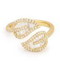 Anita Ko 18-karat Yellow-gold Leaf Ring - Metallic