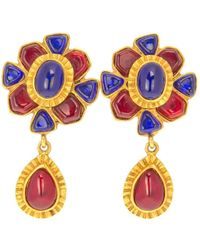 Chanel | Ruby And Sapphire Drop Earrings | Lyst