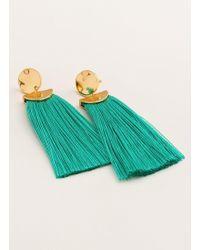 Gorjana & Griffin - Havana Circle Tassel Earrings - Lyst