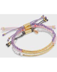 Gorjana Power Gemstone Bracelet Serenity Set - Metallic