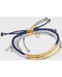 Gorjana Power Gemstone Bracelet Gratitude Set - Metallic