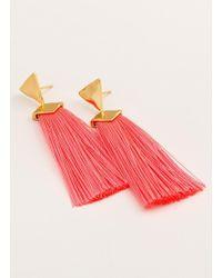 Gorjana & Griffin - Havana Triangle Tassel Earrings - Lyst