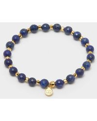 Gorjana Power Gemstone Elastic Bracelet For Wisdom - Blue