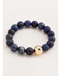 Gorjana & Griffin - Power Gemstone Black Onyx Statement Bracelet - Lyst