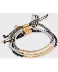 Gorjana Power Gemstone Bracelet Manifest Set - Metallic