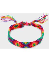 Gorjana Playa Friendship Bracelet (neon Pink Mix) - Multicolour