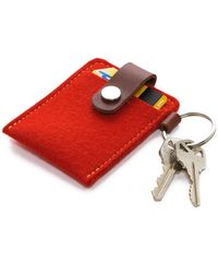 Graf & Lantz Key Card Case Felt - Orange