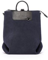 Graf & Lantz Bedford Backpack Mini Suede - Blue