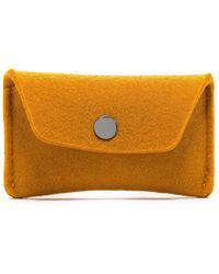 Graf & Lantz Card Wallet Felt - Orange