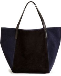 Graf & Lantz City Tote Black And Ink Nubuck