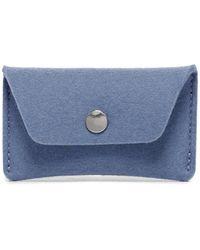Graf & Lantz Card Wallet Felt - Blue