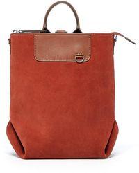 Graf & Lantz Bedford Backpack Mini Suede - Red