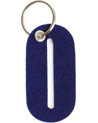 Graf & Lantz Alphabet Key Fob Letter O - Blue