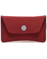 Graf & Lantz Card Wallet Felt - Red