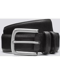 Grenson Casual Belt Black Italian Black Leather Belt
