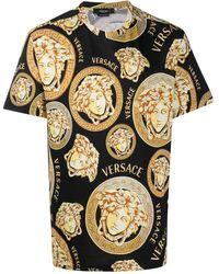 Versace T-SHIRT STAMPATA - Nero