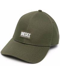 DIESEL Cappello da baseball con applicazione - Verde