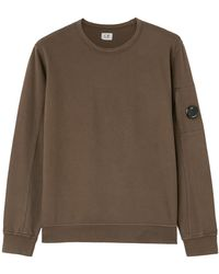 C.P. Company - Felpa light fleece garment dyed - Lyst