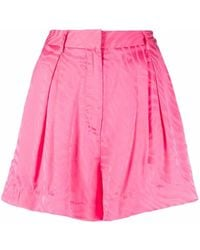 ROTATE BIRGER CHRISTENSEN Shorts con stampa - Rosa