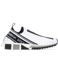 Dolce & Gabbana Stretch Mesh Sorrento Sneakers With Logotape Detailing - Multicolore