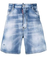 DSquared² Shorts In Jeans Stonewashed - Blu