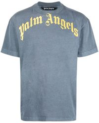 Palm Angels T-shirt con stampa - Blu