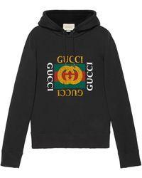 Gucci Felpa oversize con logo - Nero