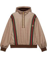 Gucci Sudadera con capucha de punto mini GG - Marrón