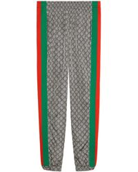 Gucci Oversize GG Nylon Track Bottoms - Gray