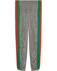 Gucci Oversize GG Nylon Track Bottoms - Gray