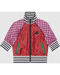 Gucci GG Multicolor Jacke mit kurzen Ärmeln - Rot