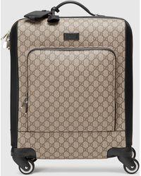 Gucci 【公式】 (グッチ)GGスプリーム キャンバス キャリーオンスーツケースGGスプリーム キャンバスベージュ - ナチュラル