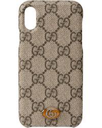 Gucci Étui pour iPhone X/XS Ophidia - Neutre
