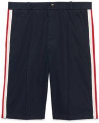 Gucci - Shorts aus Baumwolle mit Web - Lyst