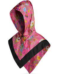 Gucci - Nylon Hood With Flora Print - Lyst