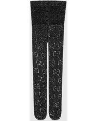 Gucci Strumpfhose mit GG Muster - Schwarz