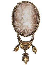 Gucci - Brooch With Cameo - Lyst