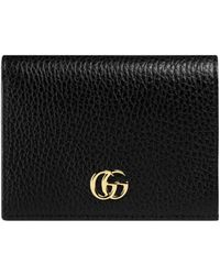 25c9a0508ffd8 Lyst - Gucci Signature Leather Card Case in Pink