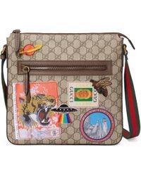Gucci Courrier Umhängetasche aus weichem GG Supreme - Natur