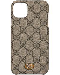 Gucci Funda Ophidia para iPhone 11 Pro Max - Neutro