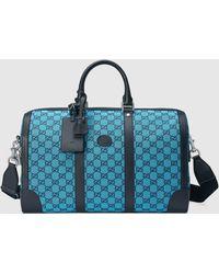 Gucci グッチ公式オンライン限定 GG マルチカラー ダッフルバッグライトブルー&ブルー キャンバスcolor_descriptionGGキャンバス