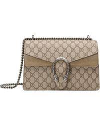 Gucci - Beige Dionysus GG Supreme Shoulder Bag - Lyst